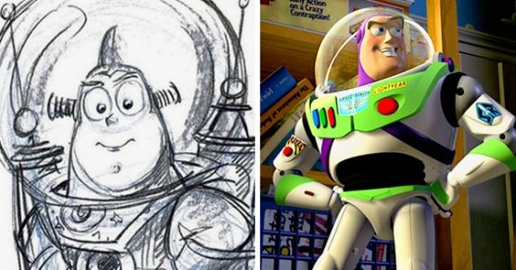 一窺迪士尼角色的創作草圖